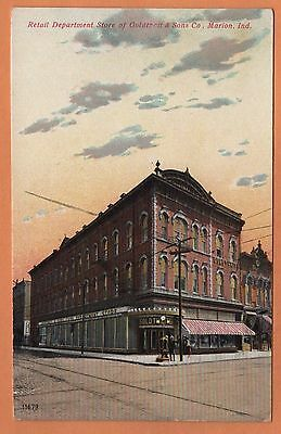 IN Indiana Marion Goldtheit Department Store Retail Grant County Postcard