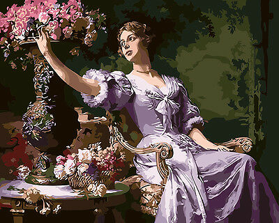 Framed Painting by Number kit Dame Gentlewoman Lady Noblewoman Woman DIY BB7705