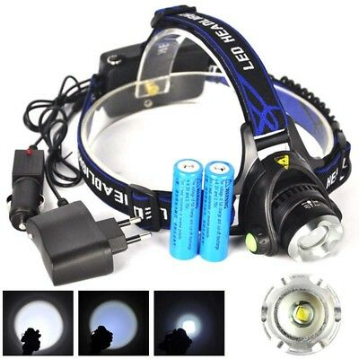 13000Lm XML T6 LED Lampe Phare Frontale 3Mode torche 18650 flashlight chargeu