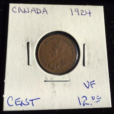 Canada 1924 1 cent VF (RC1518)