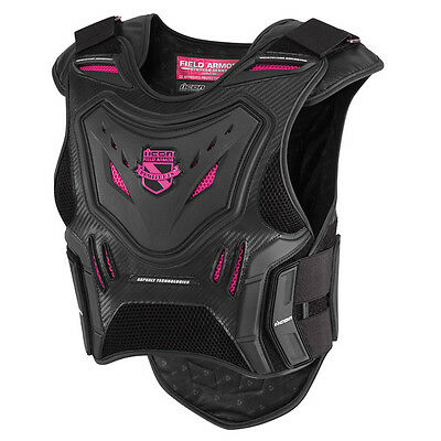 Icon Stryker Womens Field Armor Vest Pink/Black