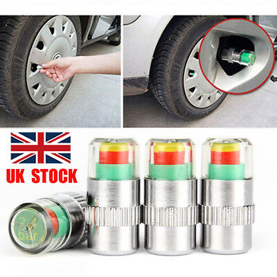 4X Car Auto Tire Pressure Monitor Valve Warning Cap Sensor Indicator Eye Alert