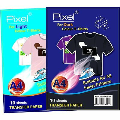 Pixel T Shirt Transfer Paper A4 Iron On Images - Multiple Packs