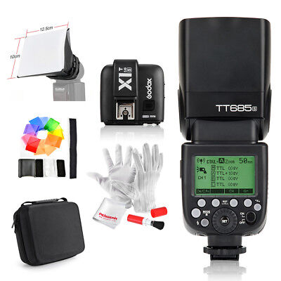 Godox TT685S HSS TTL Flash +X1T-S Trigger + Bag for Sony A77II A7R A7RII New