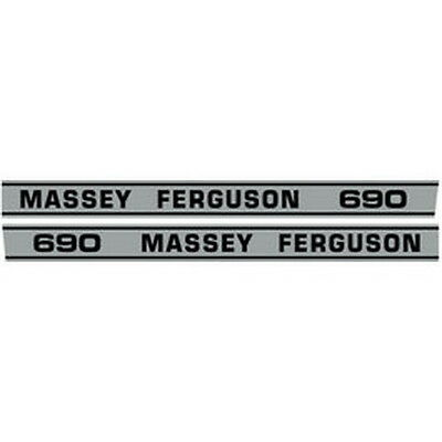 New 690 Massey Ferguson Tractor Hood Decal Kit Mf 690 High Quality Vinyl Decals