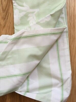 pottery barn kids toddler duvet, ELIZA, Lt Green/white, Reversible Stripe/floral