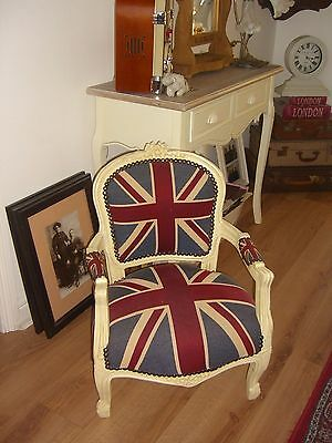 Lovely French Style Louis Union Jack Childs Chair
