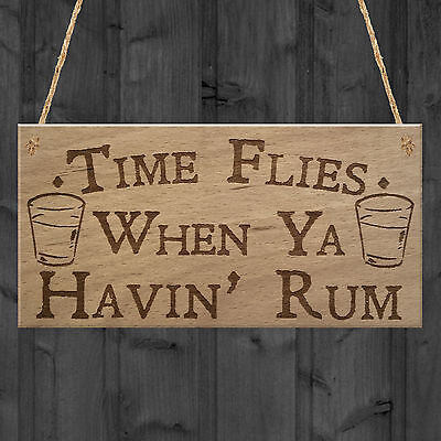 Havin Rum Funny Alcohol Man Cave Home Bar Pub Hanging Plaque Friend Gift Sign