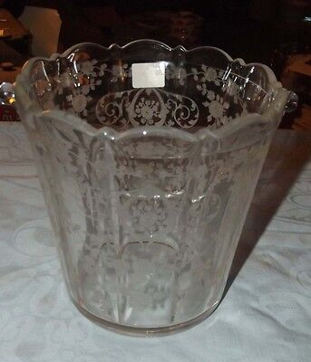 Cambridge Diane etched ice bucket with chrome handle