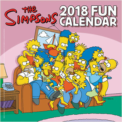 The Simpsons TV Series Animated Art 12 Month 2018 MINI Wall Calendar, NEW SEALED
