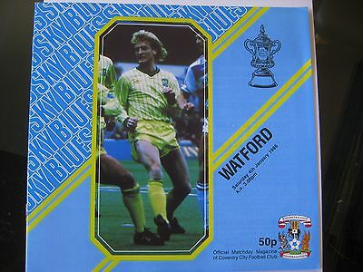 Coventry City v Watford 1985/86 FA Cup Programme