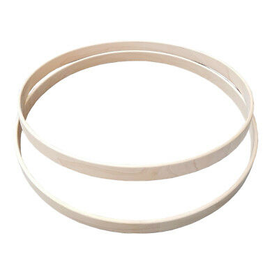"Shaw 20"" Wooden Maple Bass Drum Hoops (PAIR) SHMH20"