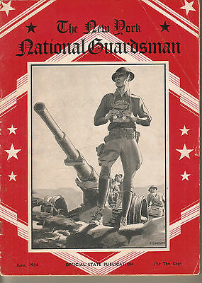 June 1934 issue The New York National Gusrdsman 32 pages military