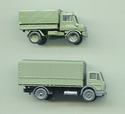 2 x ARMY lorries    by WIKING     N Gauge