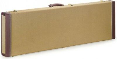 Stagg GCX-RB GD Gold Tweed Rectangular Deluxe Electric Bass Guitar Case