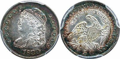 1830 Capped Bust Half Dime  AU-58 with nice toning
