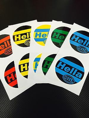 Hella Light Cover Decals Sticker Golf mk2 spot coloured red blue green Yellow