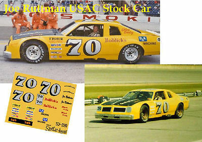 CD_2190 #70 Joe Ruttman  USAC  1976 Pontiac Ventura   1:25 scale decals