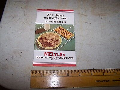 1939 NESTLE'S TOLL HOUSE COOKIES & other Delicious Recipe Booklet
