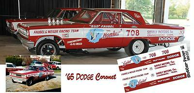 CD_MM_031 Bud Faubel Honker 1965 Dodge Coronet  1:24 Scale Decals
