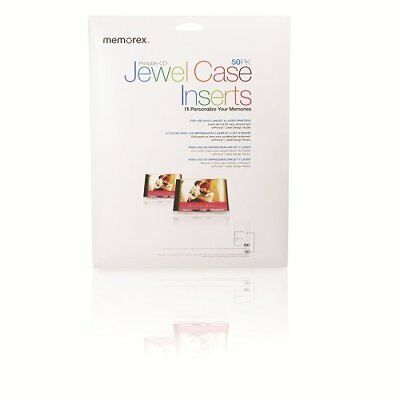 Memorex Jewel Case Inserts 50 Pack Cd Dvd Jewel Cases, New