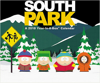 South Park TV Series 12 Month 2018 Year-In-A-Box Desk Calendar NEW SEALED