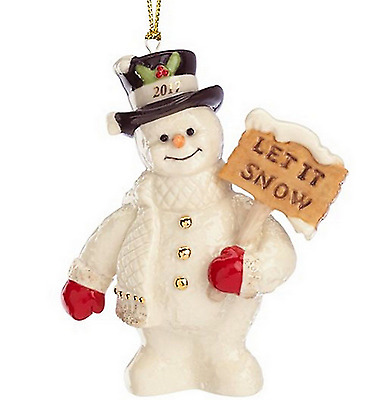 Lenox 2017 Annual  Let it Snow Snowman Ornament