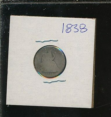 Liberty Silver Seated Dime - 1838 - Early Date Filler