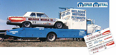 CD_MM_094 Tom Grove   Melrose Missle IV Plymouth   1:25 decals    ~NEW~