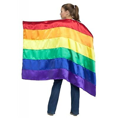 Rainbow Cape Adult Pride Flag Costume Fancy Dress