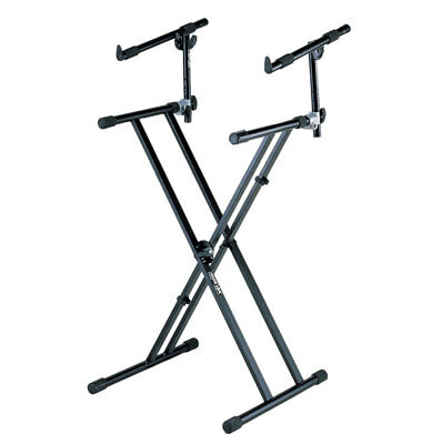 QuikLok QLX22 Double-Braced Keyboard Stand with 2nd Tier (NEW)