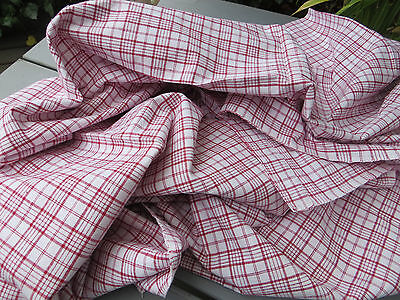 """Unused  Cottage Checked Duvet Cover Plaid Fabric Single Bed Twin  46 """" by 79 """""""