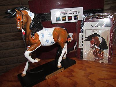TRAIL OF PAINTED PONIES War Paint Decorated Horse w Hand Prints #404345 2015 NIB