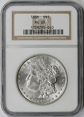 1886 Morgan Silver Dollar $1 MS 65 NGC