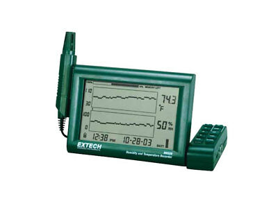 New Extech RH520A Humidity+Temperature Chart Recorder with Detachable Probe
