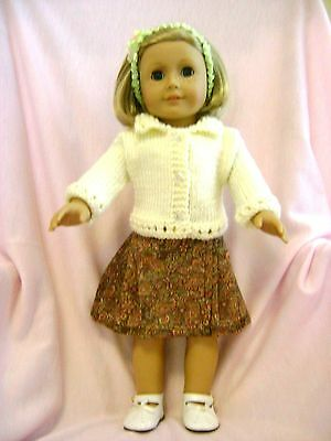 Doll clothes /HANDMADE/CUTE Skirt/Sweater Set /Fits American Girl 18 inch Dolls