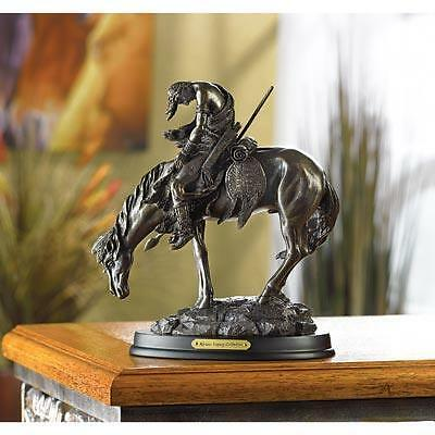 Classic Bronze Finish Replica Statue 'the End Of The Trail' Figurine New Western