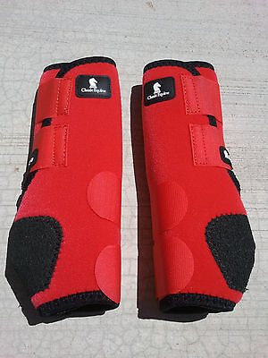 RED FRONT or HIND Classic Equine Legacy Boots Horse Tack SMB Sport Medicine
