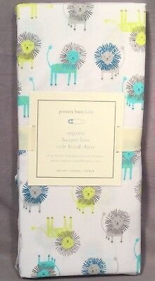 Pottery Barn Kids Organic Harper Lion Fitted Crib Sheet