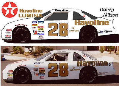 CD_1301 #28 Davey Allison Havoline Lumina  1:24 Scale Decals