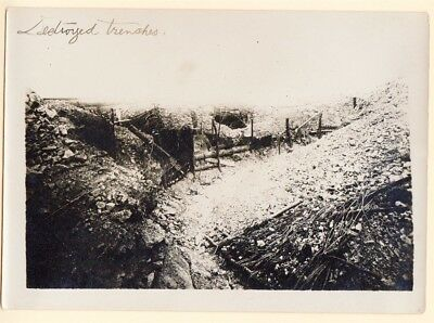 WWI Destroyed Trenches 5x7 Original Photo