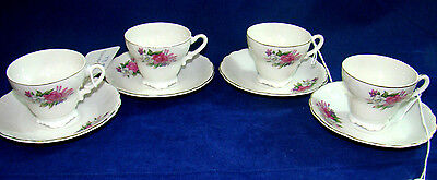 Set Of 4 Japanese Cups & Saucers