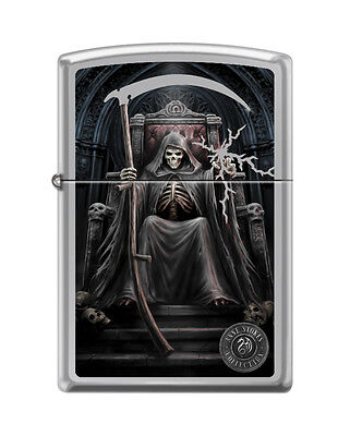 Zippo 0573, Anne Stokes-Grim Reaper-Sicle, High Polish Chrome Finish Lighter