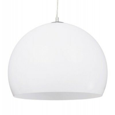 "Paris Prix - Lampe Suspension Boule ""Bibury"" Blanche"