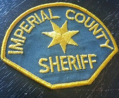 Imperial County Sheriff Police Patch California CA