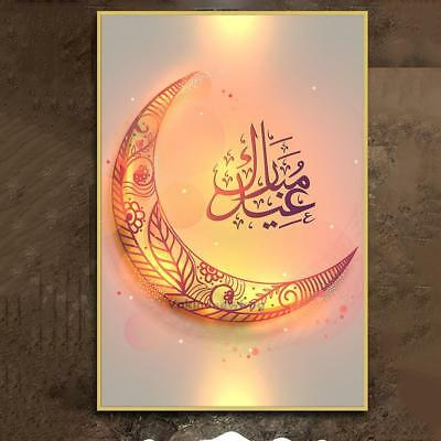 Muslim Ramadan Moon Pattern Oil Painting Photo Living Room Home Art Decor