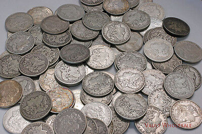 One Thousand (1,000) Morgan Silver Dollars (1878-1904) 90% Silver FREE shipping