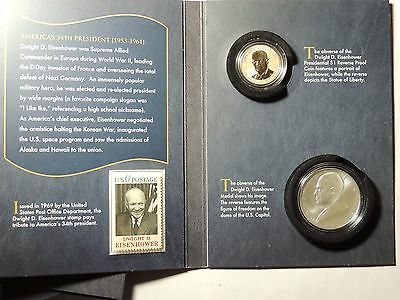 2015  Coin and Chronicles Set - Dwight D. Eisenhower  AX2 Reverse Proof