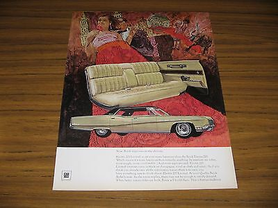 1966 Print Ad The 1967 Buick Electra 225 Limited 4-Door Car