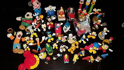 44 Disney MICKEY MOUSE Toy Lot Cake Toppers Figures PVC Donald Goofy Pluto Car+